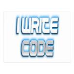 Escribo el azul del código