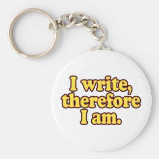 Escribo por lo tanto estoy llavero personalizado