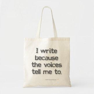 Escribo porque la bolsa de asas de las voces