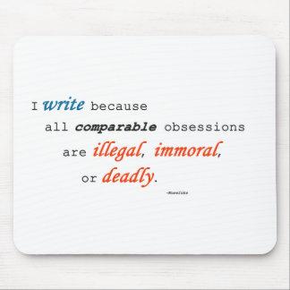 Escribo porque… mousepad