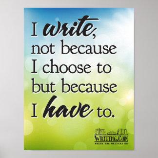 Escribo porque tengo que. posters