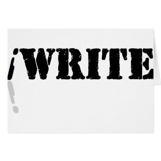 Escribo Tarjeta De Felicitación