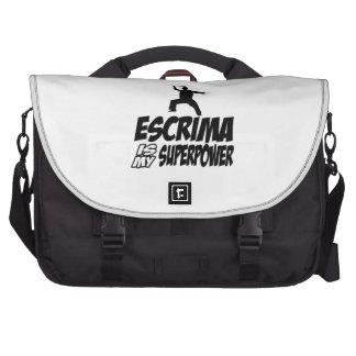 Escrima mi superpoder bolsa para ordenador
