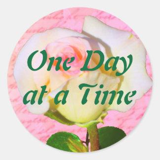Escrito con ODAT color de rosa Pegatina Redonda