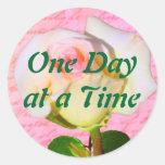 Escrito con ODAT color de rosa Pegatinas Redondas