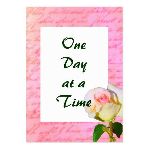Escrito con ODAT color de rosa Tarjetas De Visita Grandes