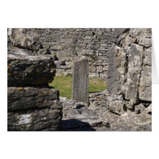 Escrito en piedra tarjeta pequeña