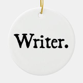 Escritor Adorno Navideño Redondo De Cerámica