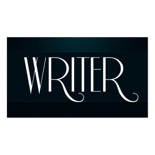 Escritor, autor, tarjeta de visita del compositor