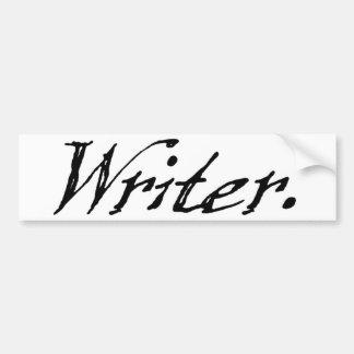Escritor Etiqueta De Parachoque