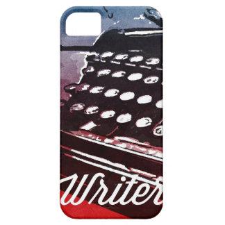 Escritor con arte pop del rojo azul de la máquina iPhone 5 carcasa