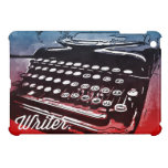 Escritor con arte pop del rojo azul de la máquina  iPad mini coberturas