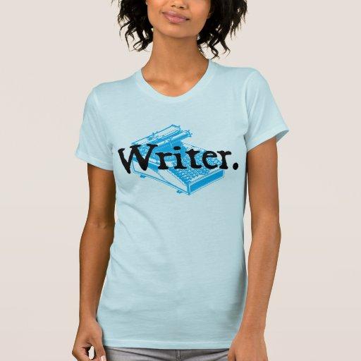 Escritor. Con el tipo máquina de la escritura Camisetas