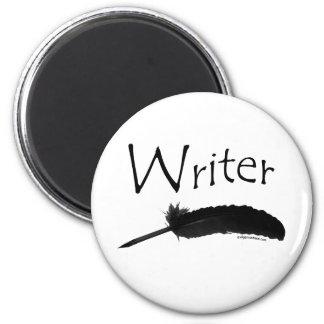 Escritor con la pluma de canilla imán redondo 5 cm