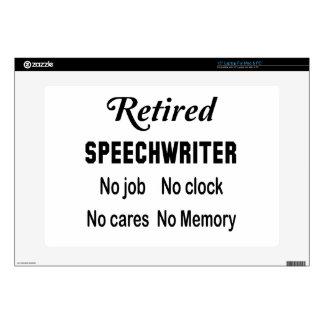 Escritor de discursos jubilado ningún trabajo skins para 38,1cm portátiles