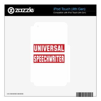 Escritor de discursos universal iPod touch 4G calcomanía