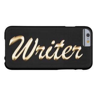 Escritor de escritura de oro funda de iPhone 6 barely there