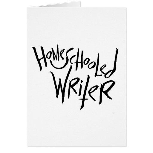 Escritor de Homeschooled Felicitacion