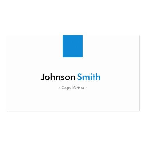 Escritor de la copia - aguamarina simple azul tarjeta personal