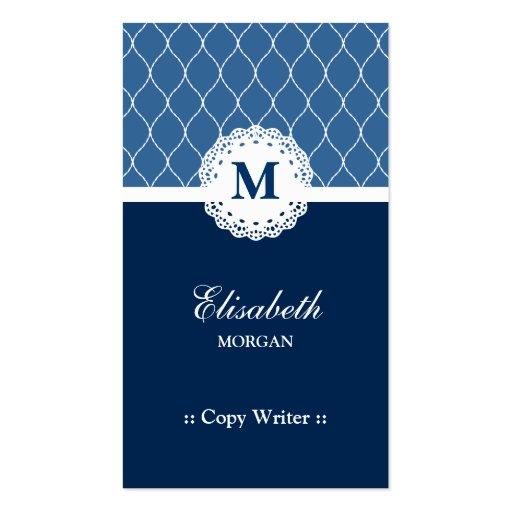 Escritor de la copia - modelo azul elegante del co