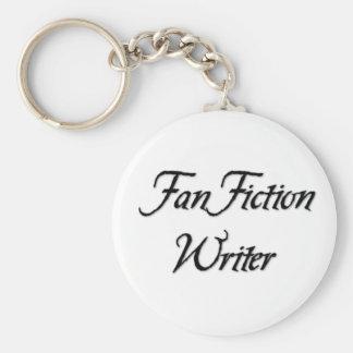 Escritor de la ficción de fan llaveros