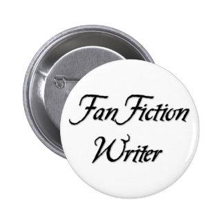Escritor de la ficción de fan pin redondo de 2 pulgadas