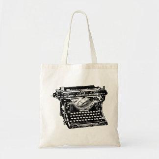 Escritor de la máquina de escribir del sotobosque bolsa tela barata