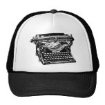 Escritor de la máquina de escribir del sotobosque gorro de camionero