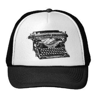 Escritor de la máquina de escribir del sotobosque gorros bordados