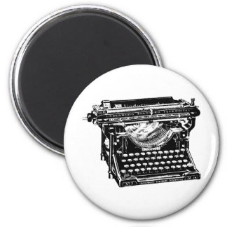Escritor de la máquina de escribir del sotobosque imán redondo 5 cm