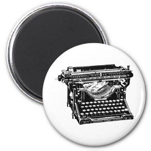 Escritor de la máquina de escribir del sotobosque imán de frigorifico