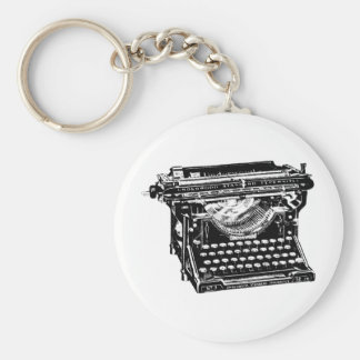 Escritor de la máquina de escribir del sotobosque llavero personalizado