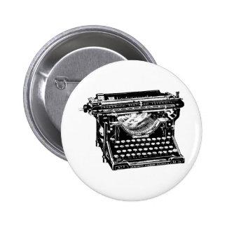 Escritor de la máquina de escribir del sotobosque pin redondo 5 cm