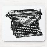 Escritor de la máquina de escribir del sotobosque tapetes de raton