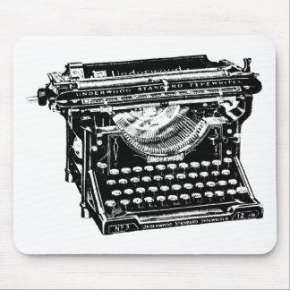 Escritor de la máquina de escribir del sotobosque alfombrilla de raton