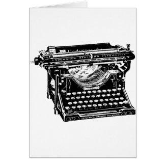 Escritor de la máquina de escribir del sotobosque tarjeta de felicitación