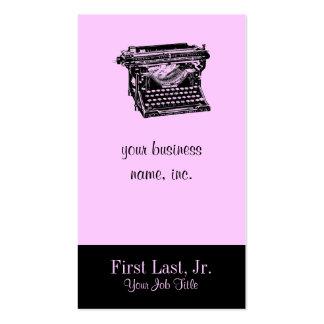 Escritor de la máquina de escribir del sotobosque tarjetas de visita
