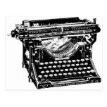 Escritor de la máquina de escribir del sotobosque postal