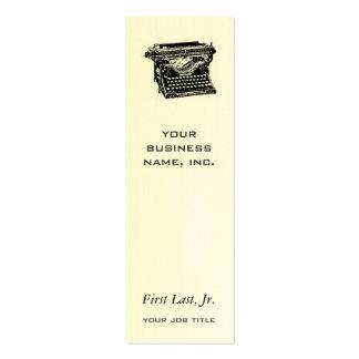 Escritor de la máquina de escribir del sotobosque tarjetas de visita mini