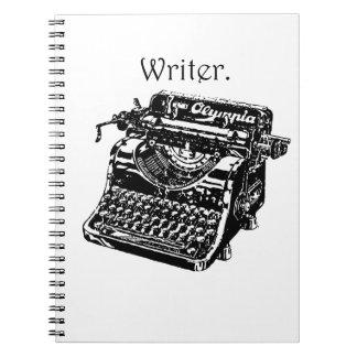 Escritor de la máquina de escribir libretas