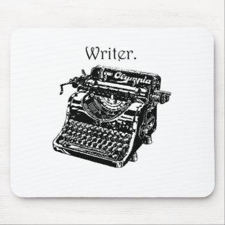Escritor de la máquina de escribir alfombrilla de ratones