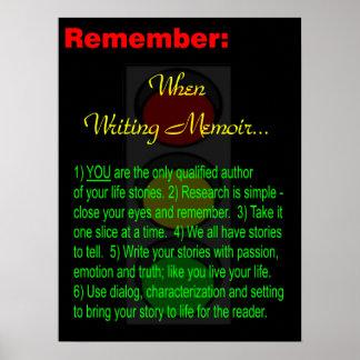 Escritor de la memoria - poster - motivación