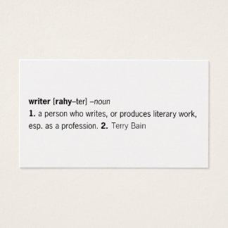 Escritor definido [como usted] tarjetas de visita