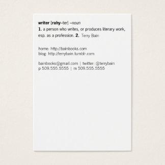Escritor definido [como usted] tarjetas de visita grandes