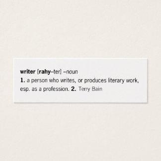 Escritor definido [como usted] tarjetas de visita mini