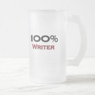 Escritor del 100 por ciento taza cristal mate