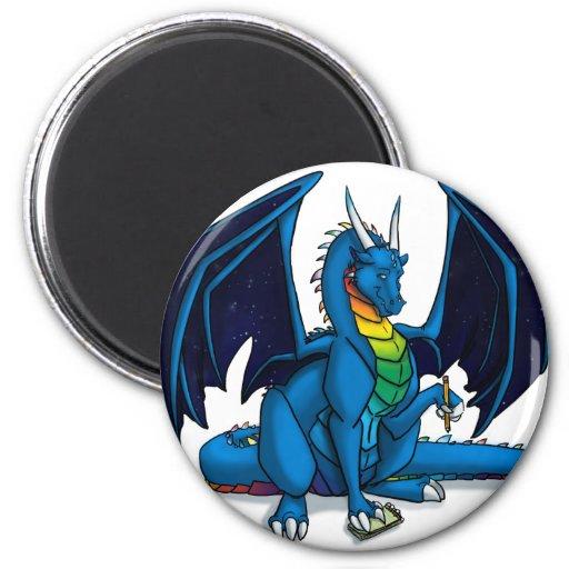 Escritor del dragón imán para frigorífico