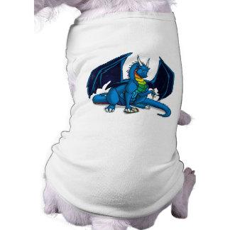 Escritor del dragón camiseta de mascota