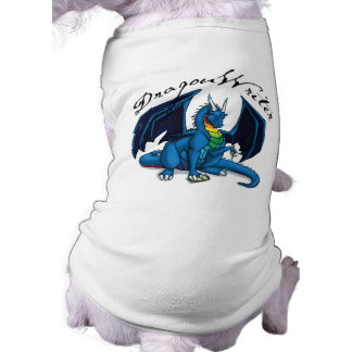 Escritor del dragón camisa de mascota