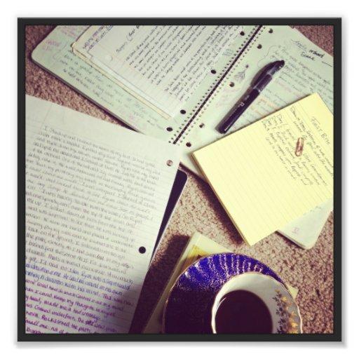 Escritor dentro fotografias